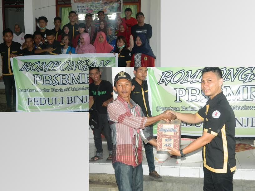 Persatuan BEM se-BMR Salurkan Bantuan ke Korban Bencana Bolmut