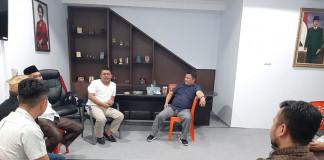 Pimpinan DPRD Kota Kotamobagu saat menerima kunjungan DPRD Kabupaten Gorontalo Utara Kamis (19/03/2020)